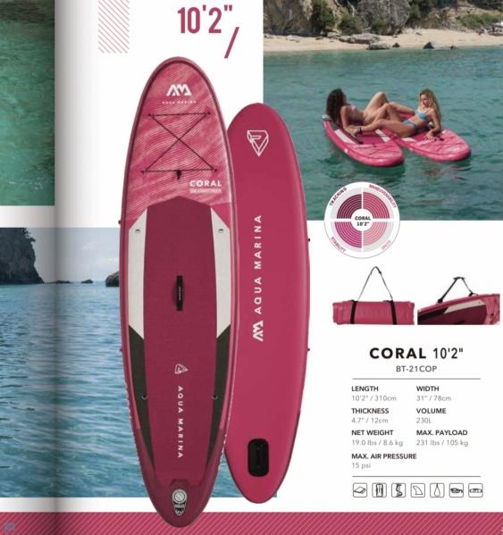 Aqua Marina Coral Damen