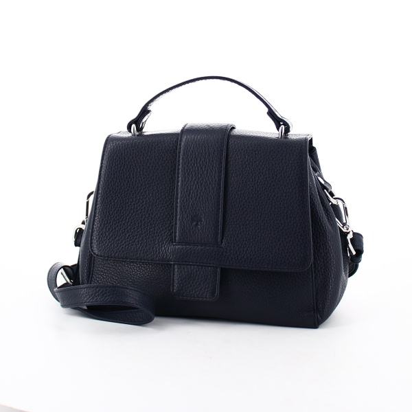 FrankyHandtasche H01 aus Leder dunkelblau