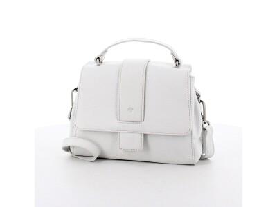 Handtasche H01 aus Leder weiß