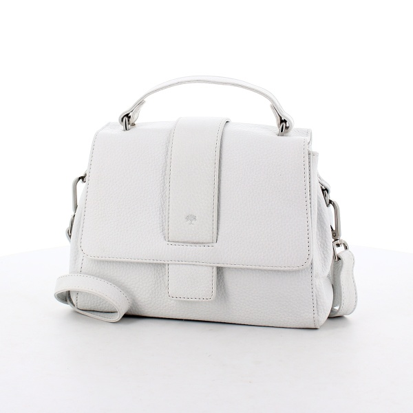 FrankyHandtasche H01 aus Leder weiß
