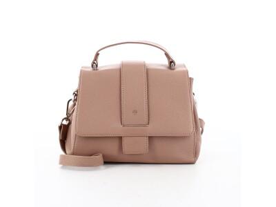 Handtasche H01 aus Leder rosa