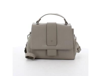Handtasche H01 aus Leder grau