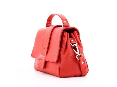 Handtasche H01 aus Leder rot