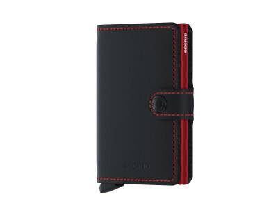 Miniwallet matte black red
