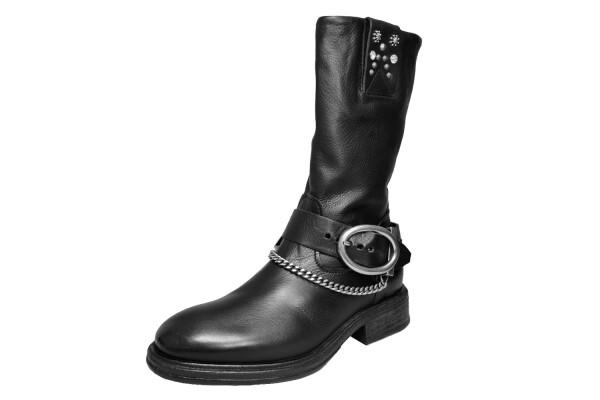 A.S.98Bootie, schwarz Leder