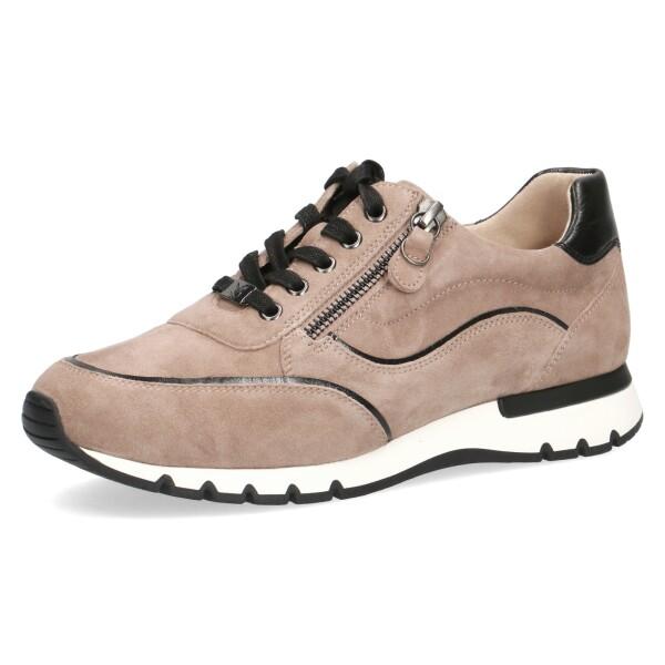 CapriceDamen Sneaker in beige nubuk leder