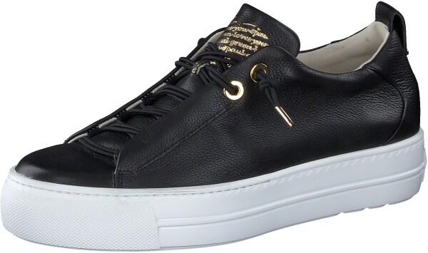 Paul GreenSneaker, schwarz gold kombi