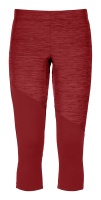 OrtovoxFleece Light Short Pants W dark blood