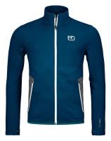 OrtovoxFleece Jacket M petrol blue