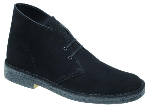ClarksDesert Boot, schwarz Nubuk