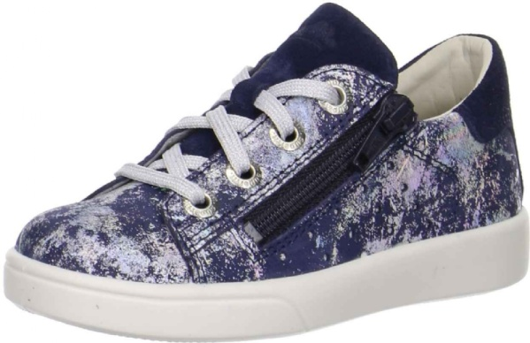 Superfit Sneaker, blau metallic