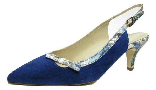 Moda di FaustoSling, royal blau Velour