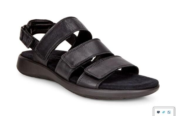 Ecco218523-01001 Soft 5 Sandal