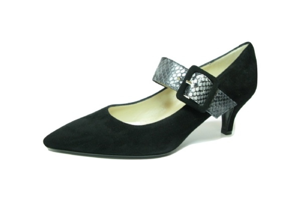 Moda di FaustoPumps, schwarz grau komib
