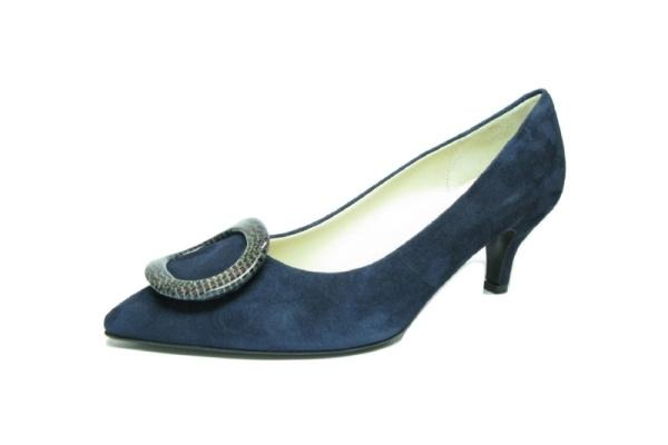 Moda di FaustoPumps, blau Velour