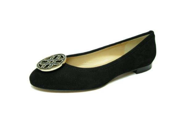 Moda di FaustoBallerina, schwarz Velour