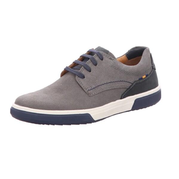 Fretz Menmodischer grauer leder Sneaker