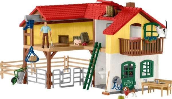 Bauernhaus mit Stall & Tieren