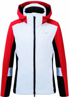 Kjus Laina Jacket white-fiery red