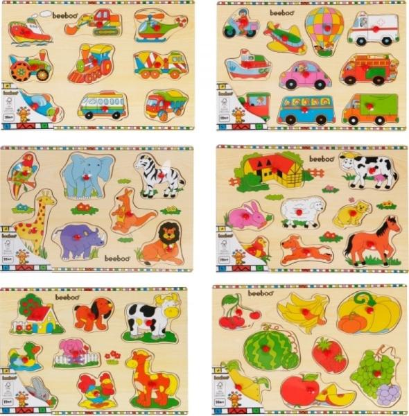 Einlegepuzzle 7-10-teilig