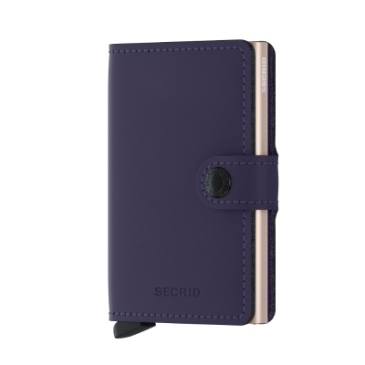 Secrid Miniwallet - Matte Purple-Rose