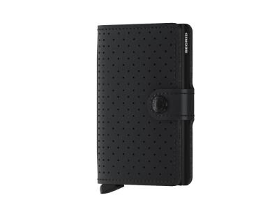 Miniwallet - Perforated Black