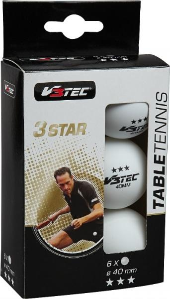 V3Tec3 Stern TT Bälle   6er Pack
