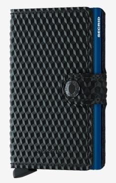 SecridCubic Black-Blue Kartenetui